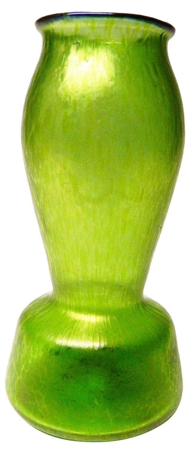Austrian Green Vase by Loetz