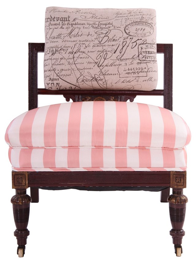 French Victorian Boudoir Chair(Y)