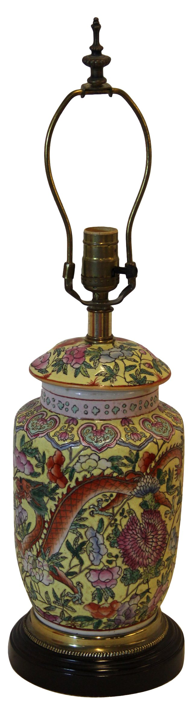 Chinoiserie Ceramic Lamp