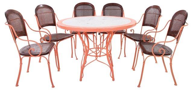 Garden Set w/ Marble Table,h