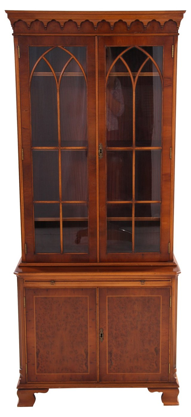 Bevan Funnell Inlaid Mahogany Cabinet