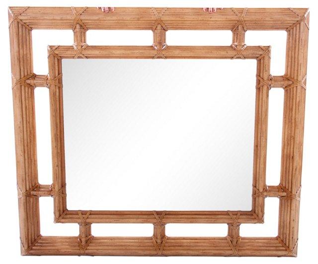 Drexel Bamboo Mirror