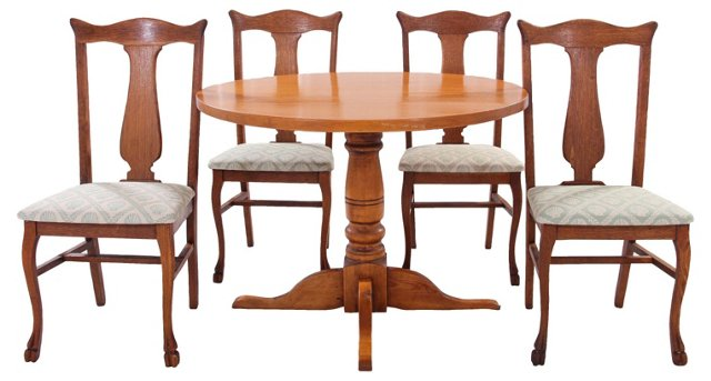 Harris Wood-Craft Table w/ 4 Chairs(Y)