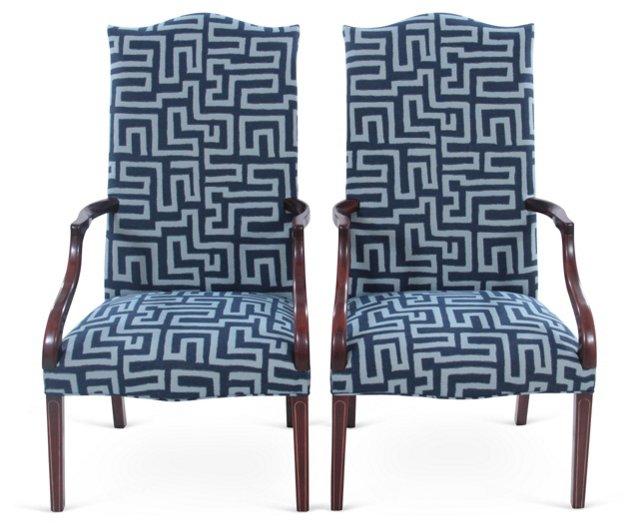 Martha Washington Chairs, Pair