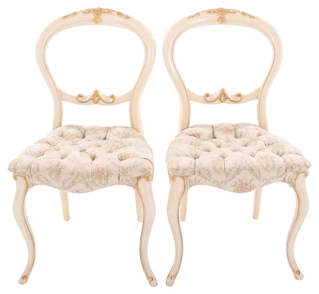 Victorian Balloon-Back Side Chairs,(hold
