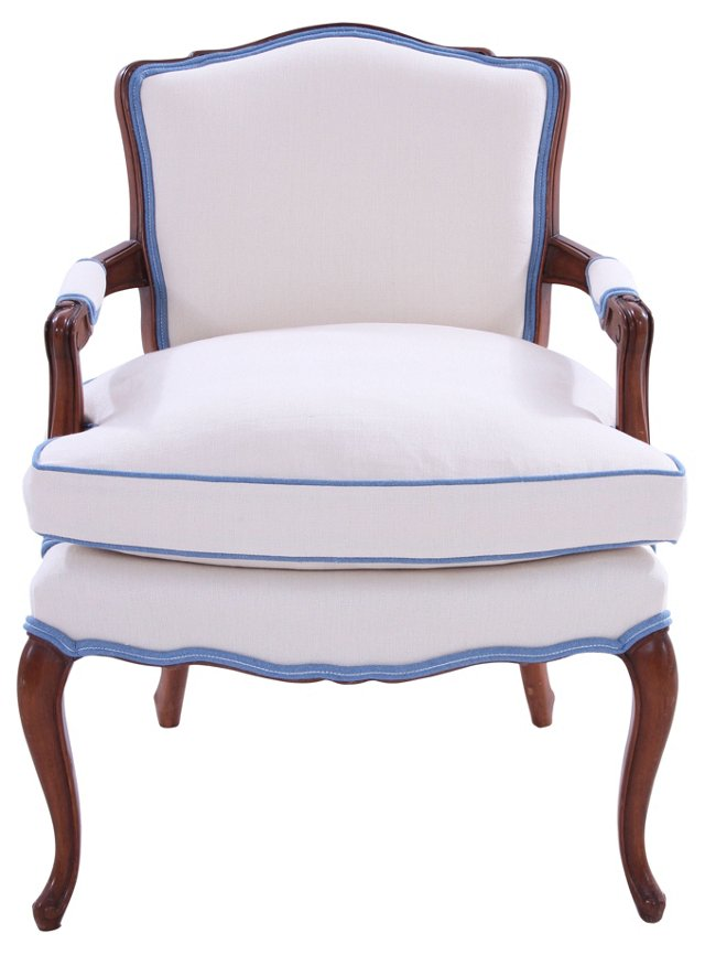 19th-C. French-Style Fauteuil
