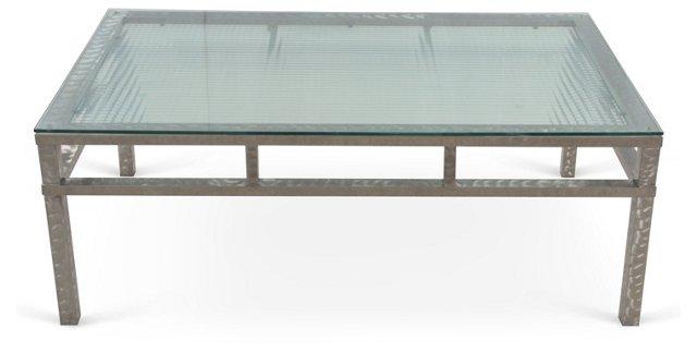 Brushed  Steel Coffee Table