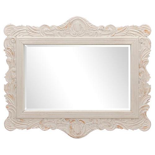 Grand Carved Provençal Mirror
