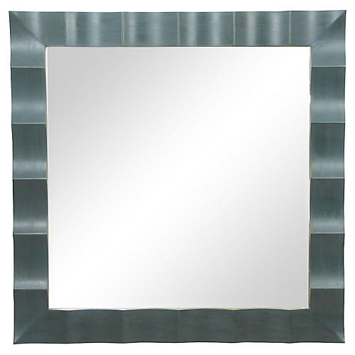Baker Square Scalloped Mirror