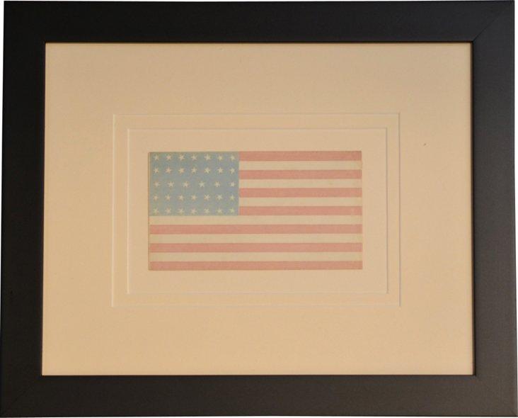 34-Star Civil War Flag Envelope, 1861