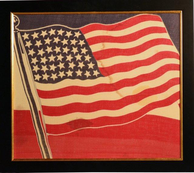 Rare 43-Star Printed Flag, 1890