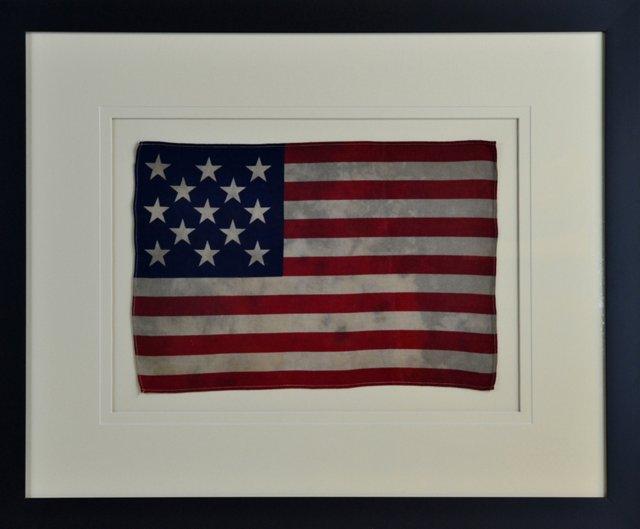 Framed 13-Star Flag, circa 1976