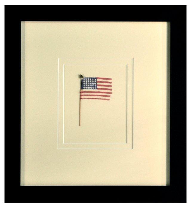 25-Star Silk Flag C. 1835
