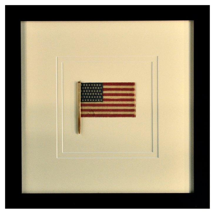 Framed 48-Star   Flag,  1912