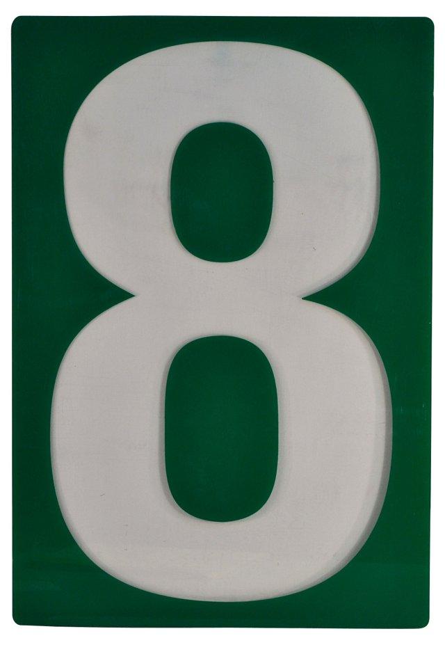 Large Sign Number 8