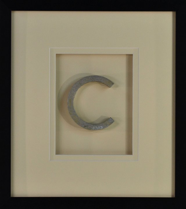 Framed Aluminum    Letter C Sign