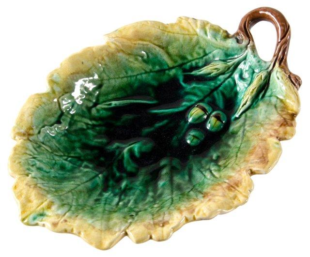 English Oak Leaf Tray w/ Acorns