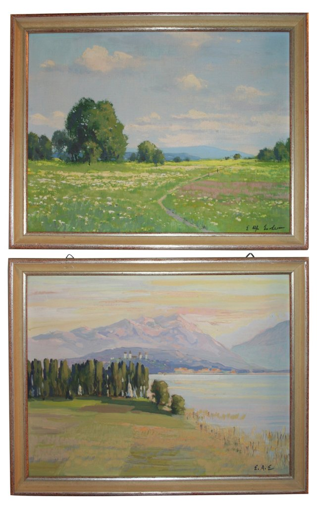Swiss Countryside & Lake Zurich, Pair