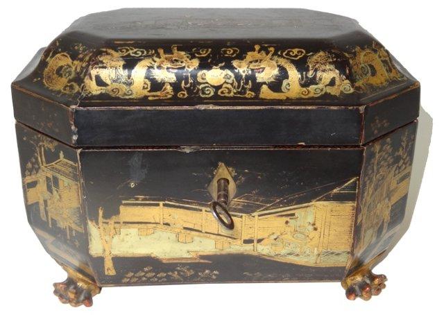 19th-C. Chinoiserie Box