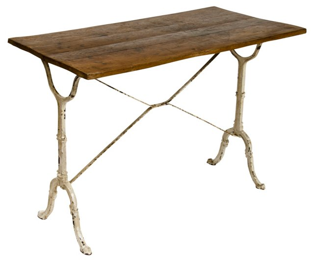 French Bistro Table w/ Iron Base