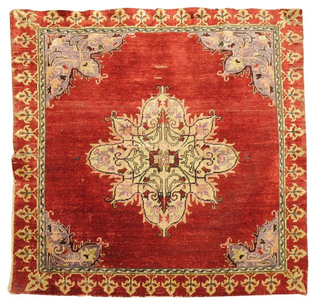 17th-C. Mounted Silk Hereke