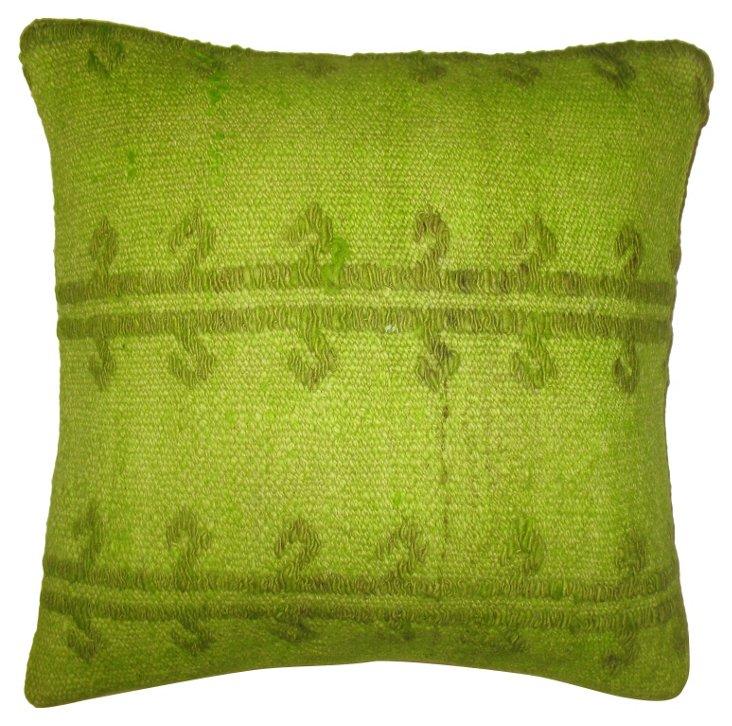 Lime Green Jajim Pillow
