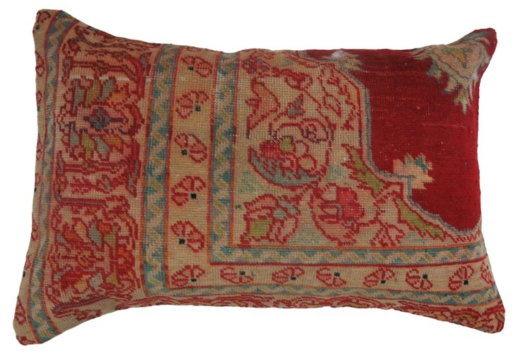 Red Oushak Lumbar    Pillow