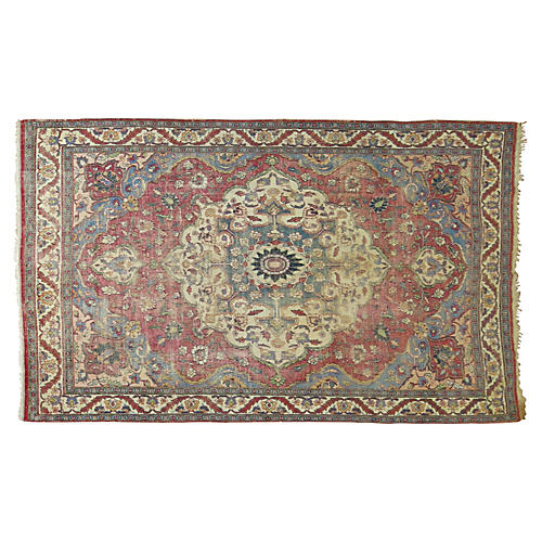 Distressed Persian Rug, 9'9'' x 6'7''