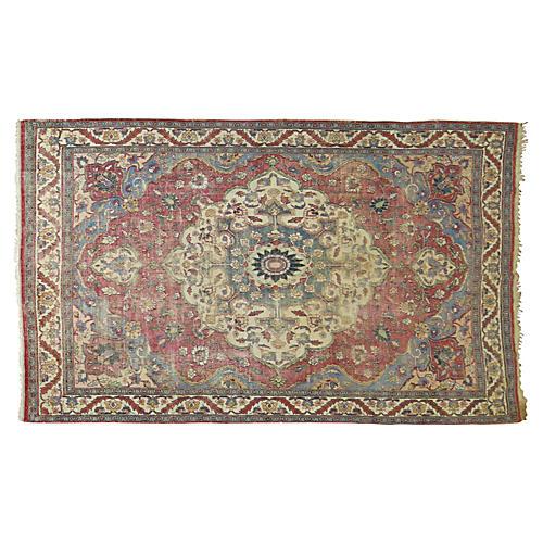 Distressed Persian Rug, 9'9'' x 6'7''