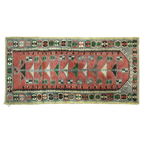 Turkish Anatolian Rug, 5'1'' x 2'3''