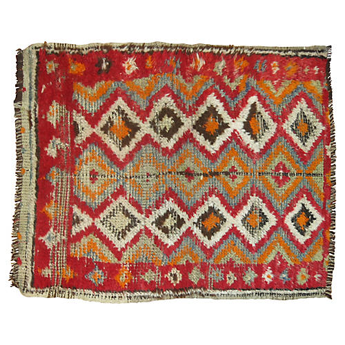 Moroccan Rug, 3'2'' x 2'6''