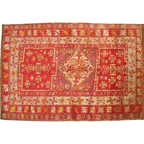 """Red Turkish Sivas Rug, 3' x 4'6"""""""
