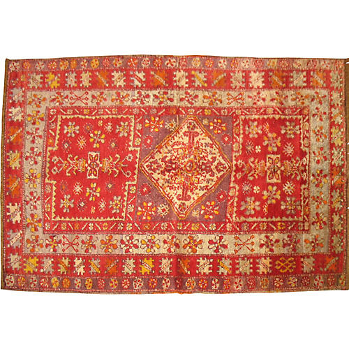 Red Turkish Sivas Rug, 3' x 4'6""