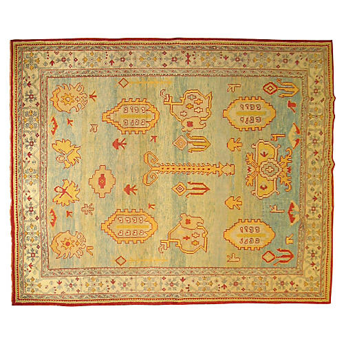 Turkish Oushak Rug, 8'08'' x 10'7""