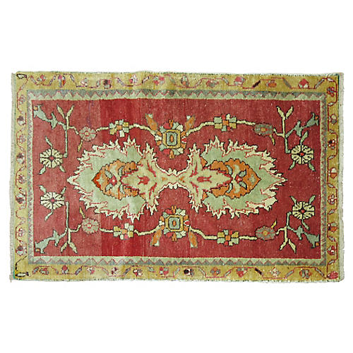 Turkish Oushak Rug, 2'10'' x 4'10''