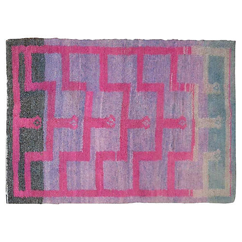 Pink Turkish Tulu Rug, 3'8'' x 5'1''