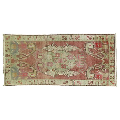 Vintage Oushak Rug, 2'8'' x 5'4''