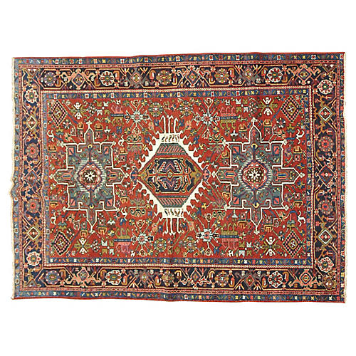 Antique Heriz Rug, 4'10'' x 6'3''