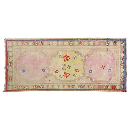 "Pink Anatolian Rug, 4'9"" x 9'11"""