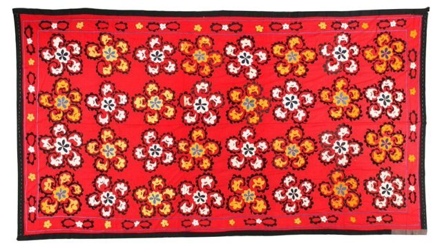 Red Floral Suzani