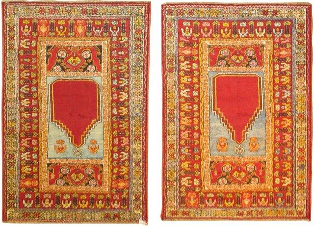 """Turkish Rugs w/ Niche, Pair, 5'5"""" x3'5"""""""