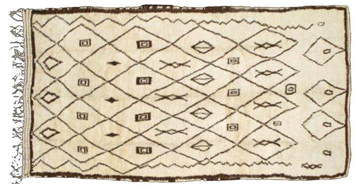 "Moroccan Rug, 8'9"" x 4'8"""