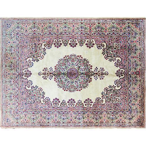 """Persian Royal Kerman Rug, 6'11"""" x 9'1"""""""