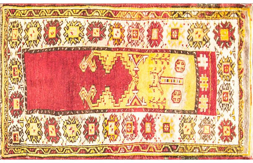 Antique Oushak Rug, 3'3
