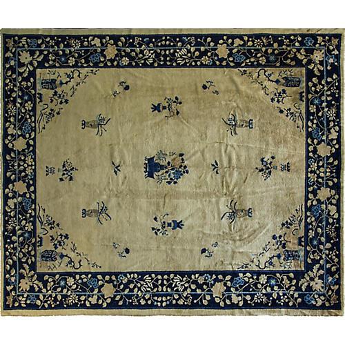 """8' x 9'6"""" Antique Chinese Peking Rug"""