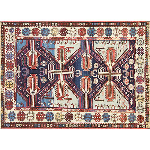 "19th-C. Shirvan Rug, 3'9"" x 5'3"""