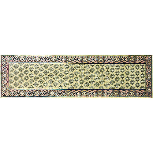 "Antique Khotan Runner, 12'8"" x 3'"