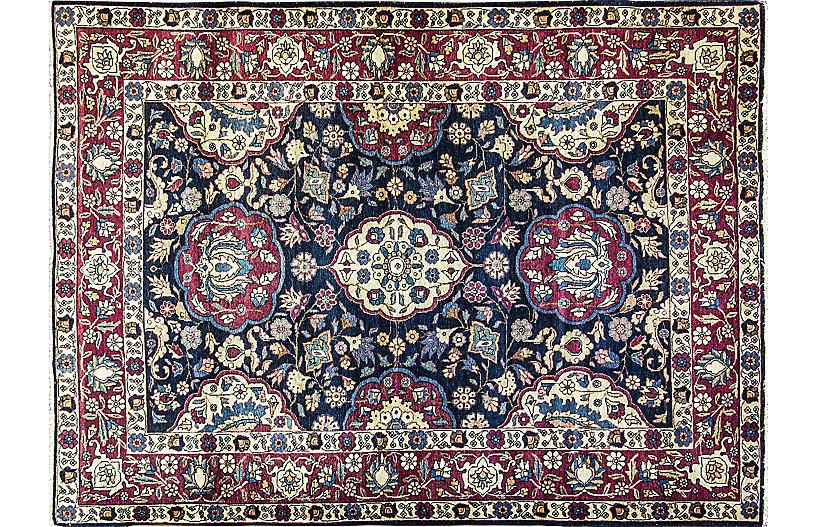Persian Tabriz Rug, 4'6