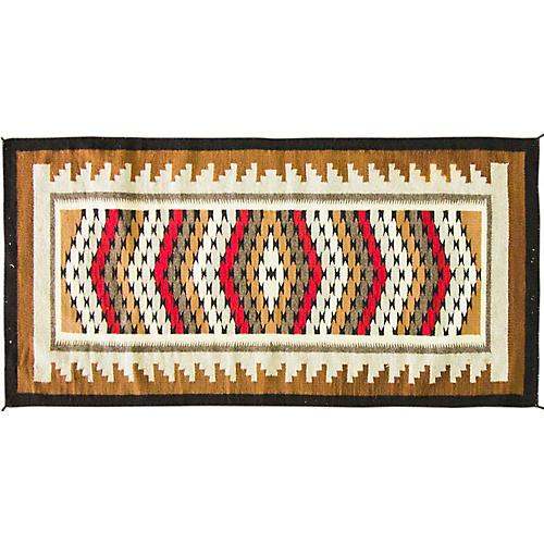 "Navajo Style Rug, 2'6"" x 5'2"""