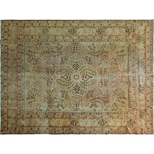 "Persian Tabriz Carpet, 9' x 12'2"""